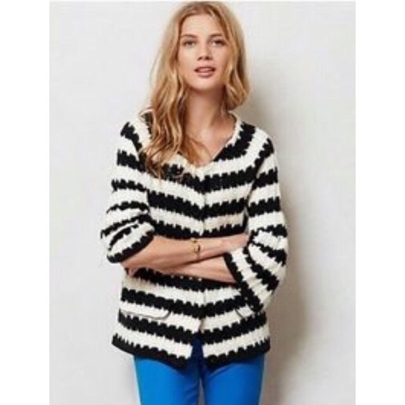 56a5f5f2a38226 Anthropologie Sweaters | Wool Blend Chunky Knit Cardigan S | Poshmark